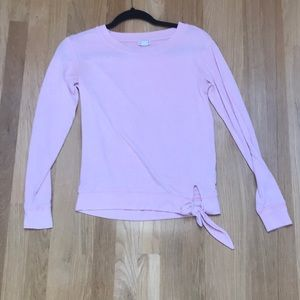 Pink soft long sleeve shirt from J. Crew with bow